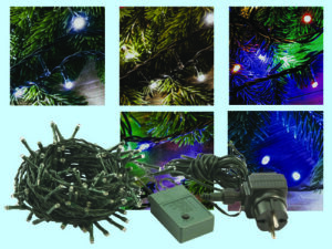 Luci natale led per esterno 300 led multicolor 13,5 mt